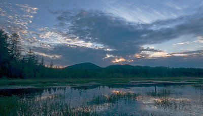 Sunset in Heron Marsh near Tupper Lake